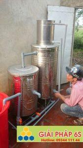 Lọc nước thẩm thấu trọng lực 3 bình inox